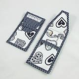 Úžitkový textil - Pre knihomoľov - peračník - folklórny modro-biele - 10968955_