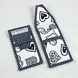 Úžitkový textil - Pre knihomoľov - peračník - folklórny modro-biele - 10968977_