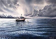 Obrazy - Plachtenie - maľba - 10968533_