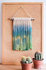 Dekorácie - Nástenná dekorácia z dreva a vlny ♥ MINI 07 - 10969557_