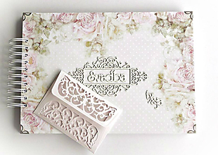 Papiernictvo - Svadobný album,jemný album na fotky,svadobná kniha hostí A4 - 10969140_