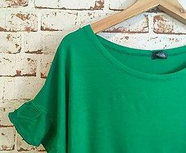 Tričká - Zelené s volánom - 10968665_