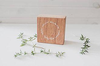 Prstene - Svadobná krabička biely venček - 10969500_
