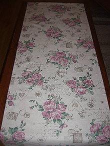 Úžitkový textil - Obrus vintage roses 124*45 - 10969983_