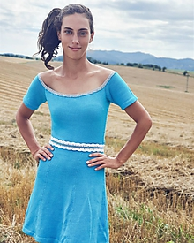 Šaty - Pletené bavlnené šaty - Majka - 10969968_
