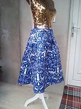 Sukne - modrá sukňa - 10973253_