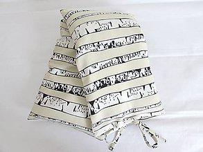 Úžitkový textil - Pohánkový vankúšik na šiju a kríže breza - 10971475_