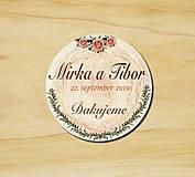 Darčeky pre svadobčanov - Svadobná magnetka - 10972324_