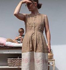 """Šaty - lněné""""vyšívané"""" - 10971743_"""