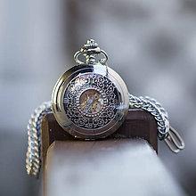 Iné - Mechanické vreckové hodinky s kroužkovanou reťazou (54) - 10972208_