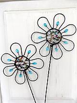 Dekorácie - zápich...dúhový kvet - 10973139_