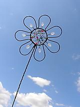 Dekorácie - zápich...dúhový kvet - 10973159_