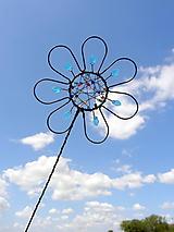Dekorácie - zápich...dúhový kvet - 10973225_