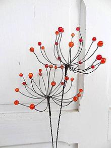 Dekorácie - kvet-púpavy jesene...zápich-sada - 10973052_