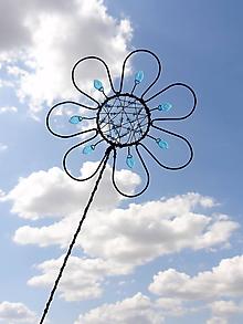 Dekorácie - zápich...dúhový kvet - 10973150_