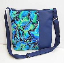 Kabelky - Modrá Kabelka Motýle - 10972989_