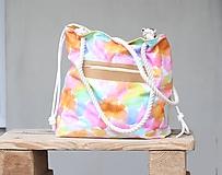 Veľké tašky - Obrovská plážová taška - pestrofarebné fľaky - 10970941_