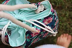 Veľké tašky - Obrovská plážová taška - tmavé kvety - 10970973_