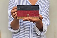 Peňaženky - Korková peňaženka M - trojkombinácia - 10971079_
