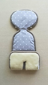 Textil - Podložka do autosedačky vajíčka 0+  0-13 kg 100% Merino proti poteniu a prechladnutiu - 10971710_
