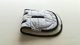 Textil - MERINO podložka do kočíka BUGABOO Bee / Buffalo/ Cameleon/ Donkey/ FOX 100% WOOL Seat Liner ATELIER grey - 10971939_