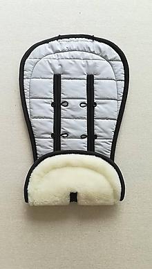 Textil - MERINO podložka do kočíka BUGABOO Bee / Buffalo/ Cameleon/ Donkey/ FOX 100% WOOL Seat Liner ATELIER grey - 10971933_