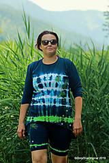 Topy, tričká, tielka - Dámske krátke nohavice a tričko (tunika), šité, maľované, batikované  FOENICULUM - 10972391_