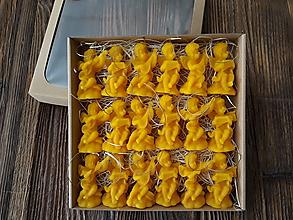 Dekorácie - Vianočné ozdoby zo 100% včelieho vosku v darčekovej krabičke 18ks - 10971593_
