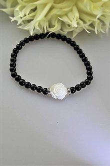 Náramky - turmalín náramok s perleťou - dámsky ochranný náramok - 10973069_