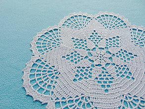 Úžitkový textil - Háčkovaná dečka Striebristá hviezda - 10972596_