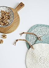 Úžitkový textil - Pletená okrúhla chňapka/podložka - 10972567_