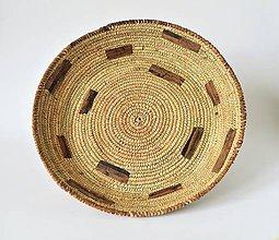 Dekorácie - Doska, palmové listy a prírodná koža - 10971551_