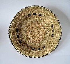 Dekorácie - Doska, palmové listy a prírodná koža - 10971564_