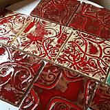 Dekorácie - Keramika, Kachlicky Red - 10970725_