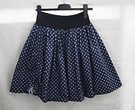 Sukne - Modrotlač. Krátka točivá suknička - 10972889_