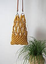 Makramé taška ZOYA (Žltá)