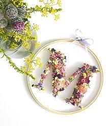 Dekorácie - Obraz vyšívaný kvetmi farebný - 10971824_