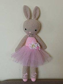 """Hračky - Zajačik """"baletka"""" tmavý, ružový - 10971081_"""