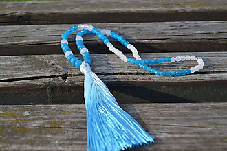 Náhrdelníky - Náhrdelník so strapcom - 10972363_