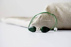 Náramky - Jemný luxus Malachitová slza - 10973175_