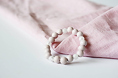 Náramky - Jemná ružová romantika s Krištáľom - 10973261_