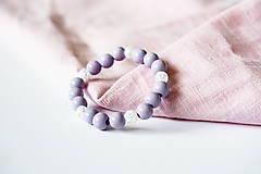Náramky - Jemná fialová romantika s Krištáľom - 10973327_
