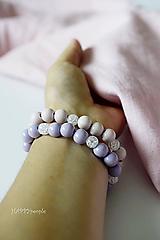 Náramky - Jemná fialová romantika s Krištáľom - 10973328_