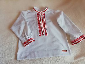 Detské oblečenie - ĽUDOVÁ košieľka. (otec a syn) - 10971570_