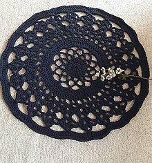 Úžitkový textil - Hačkovaný koberec - 10972581_