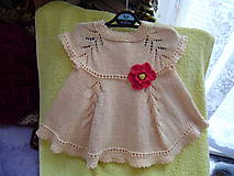 Detské oblečenie - Pletené detské šatočky - 10972338_