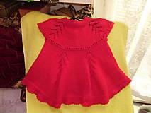 Detské oblečenie - Detské pletené šatočky - 10972352_