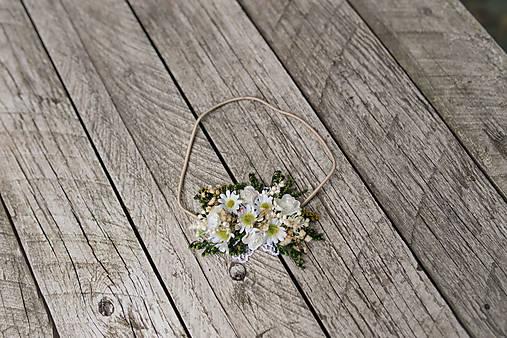 """Kvetinová čelenka na gumičke """"lúčne margarétky"""""""