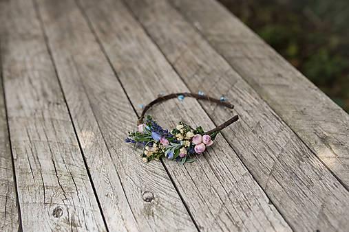 "Kvetinová čelenka ""ty jsi má levandulova"""