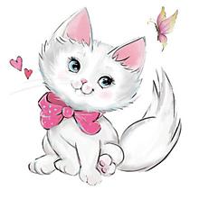 Galantéria - Nažehľovačka Mačička a motýlik - 10972532_